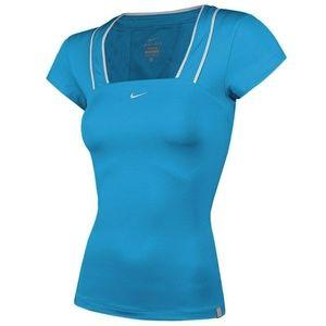 Nike Dry Fit XS Tennis Shirt Short Sleeve Blue
